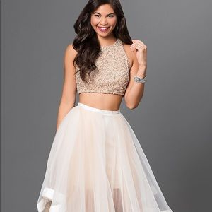 Terani Couture two-piece jeweled gown